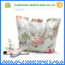 Oem production outdoor sport beach women nylon full color printing tote bag