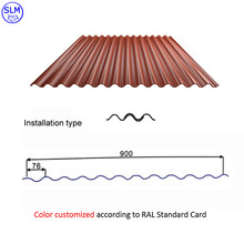 Color corrugated metal steel plate for roofing panel