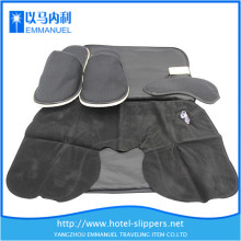 black knitted cloth disposable slide slippers for hotel