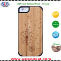 2016 popular printed wood cases for wood case iphone 6s 7 wooden case cover IPC337H