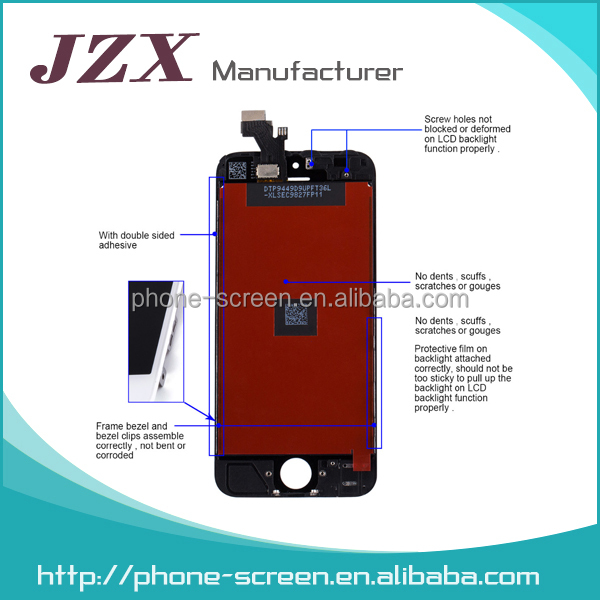 LCD Assembly For iphone 5S, digitizer touch screen for iphone 5 5c 5s