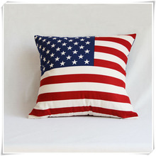 Hot Sale European Style Printing Canvas Cotton Cushion Cover For Home Decor