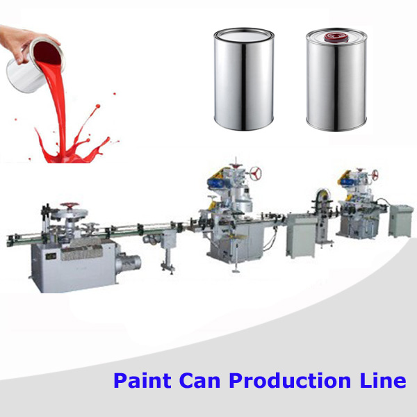 Complete Automatic Paint Tin Container Metal Can Making Line