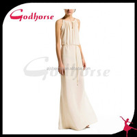 2015 Double Open Fork Maxi Dress Made in China