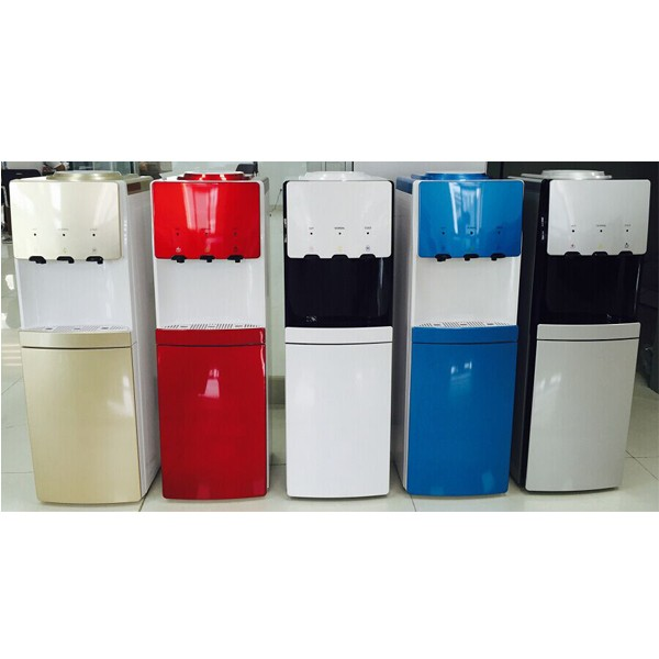Hot cold water dispenser with R134a compressor cooling