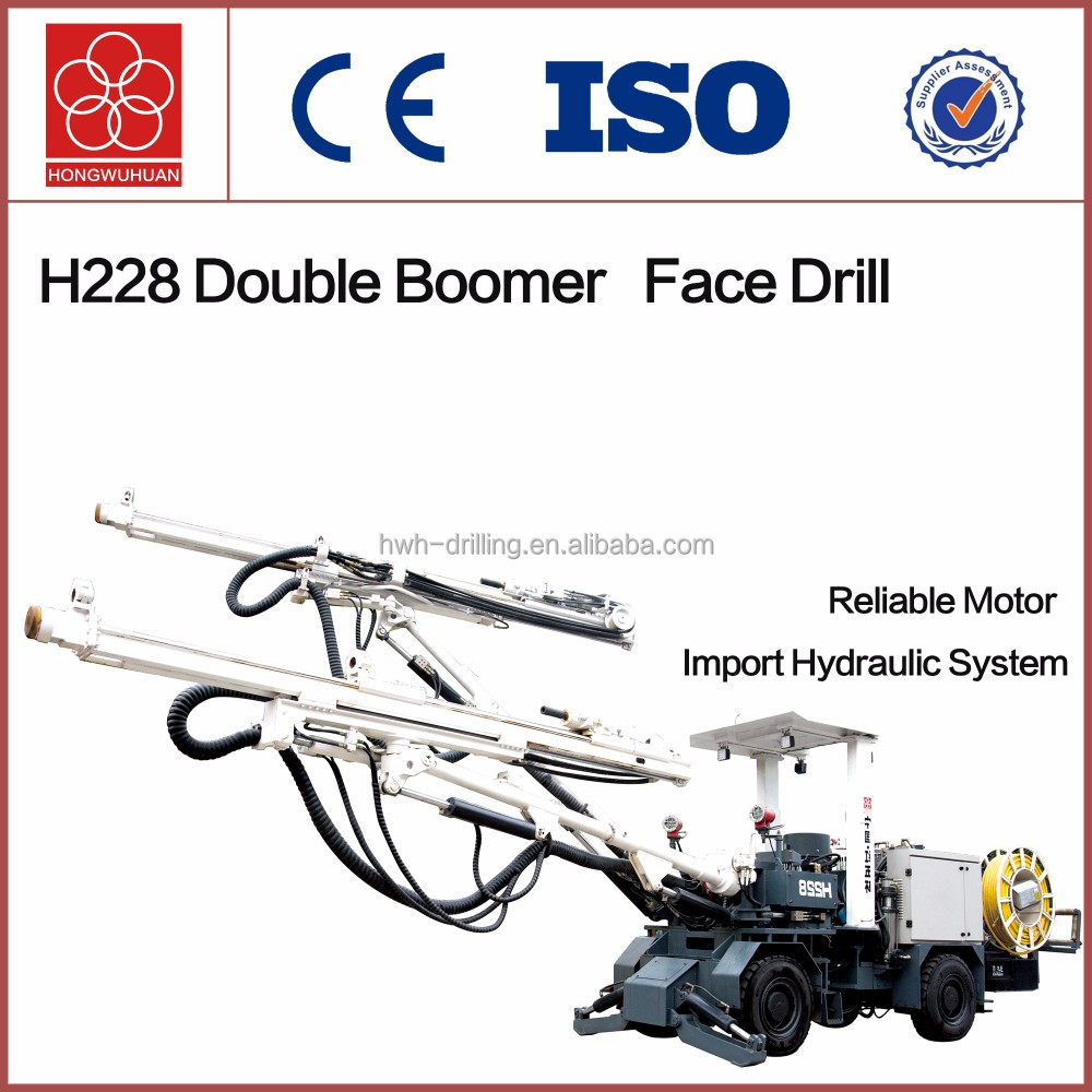 H228 wheel mounted electric face drill jumbos with double booms