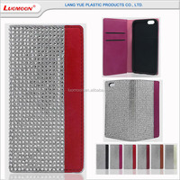 5 inch mobile cell phone case best Austrian diamond PU leather flip cover for samsung galaxy grand i9082