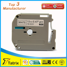 "Compatible for Brother P-touch M231 MK231 M-k231 Label Tape (0.47"")12mm Wide X26.2ft Length ~1/2-Inch Black on White"