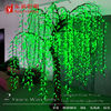 2400 leds 2.4 meter height green artificial lighted willow tree