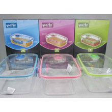 CLEAR PLASTIC MICROWAVE FOOD BOX WITH VENT 2400ML