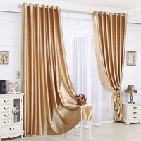 High grade embossed color solid balckout curtain