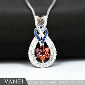 2018 Beautiful pendant for ladies 925 Sterling Silver Ruby Pendant Jewelry with AAA Zircon