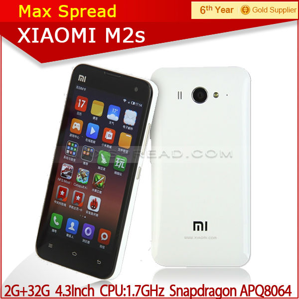 New original Xiaomi Mi2s 4.3inch IPS single sim WCDMA with 3g wifi 4.3 inches mobile phone
