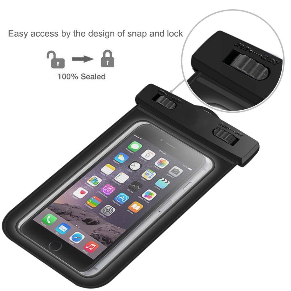 Wholesale portable pvc clear waterproof cell phone pouch