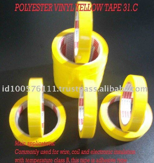 Indonesia Yellow Electrical Commonly Insulation Wire High Temperature Adhesive Tape