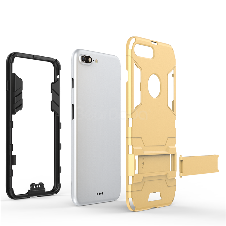 Kickstand armor mobile phone case for iphone,2 in 1 tpu pc case for iphone 7 plus
