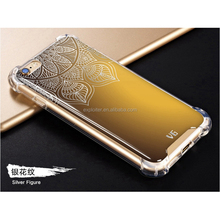 Factory sale shockproof air sac gel back cover case for iphone 7 case python leather