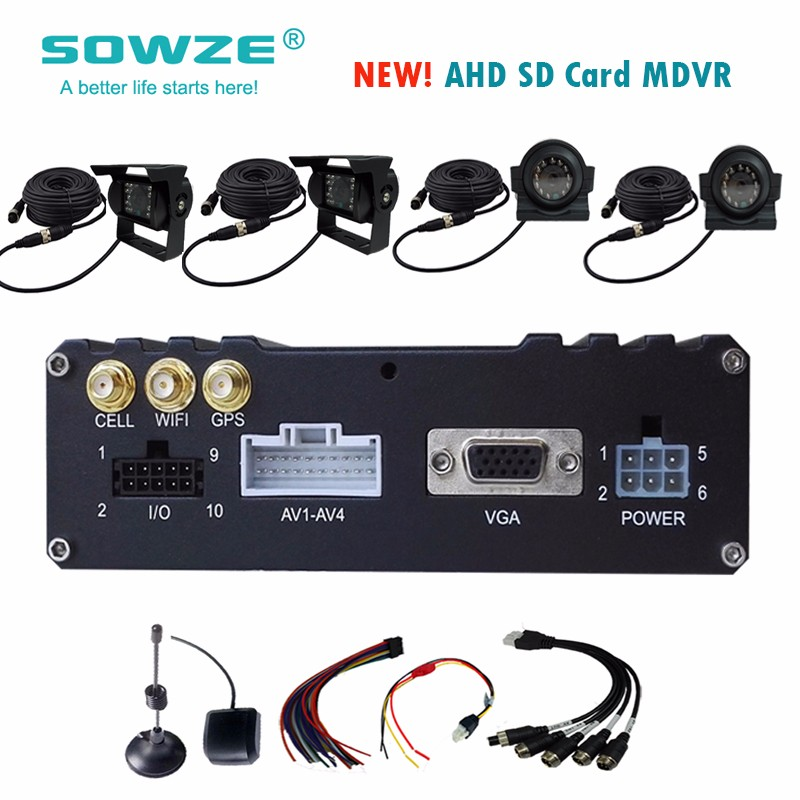 64G 128G 256G SD Card 500G 1TB 2TB HDD 4g/3g mobile dvr security system