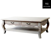 Antique french provincial solid wood coffee tables with drawer