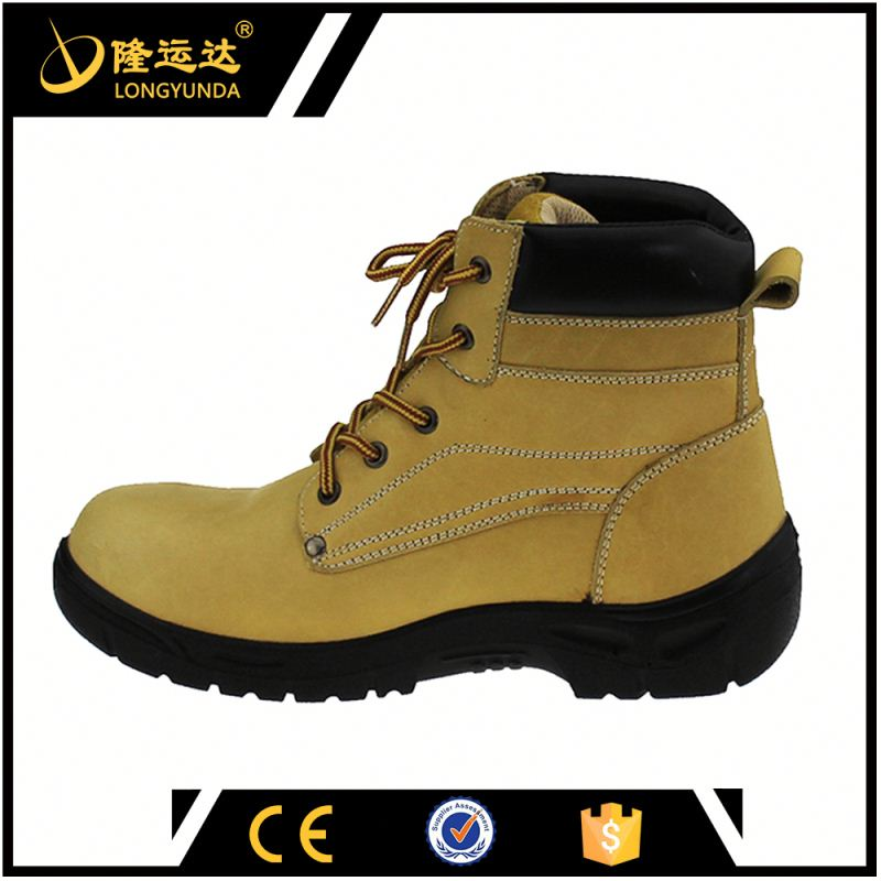shock resistant crazy horse leather safety boots