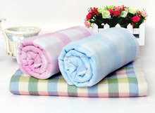 Lattice Pattern Dyed yarn Gauze Cotton Bath/ Hand Towel