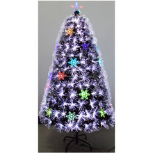 150cm led all white plum-shaped ornaments with snowflakes fiber optic Christmas tree
