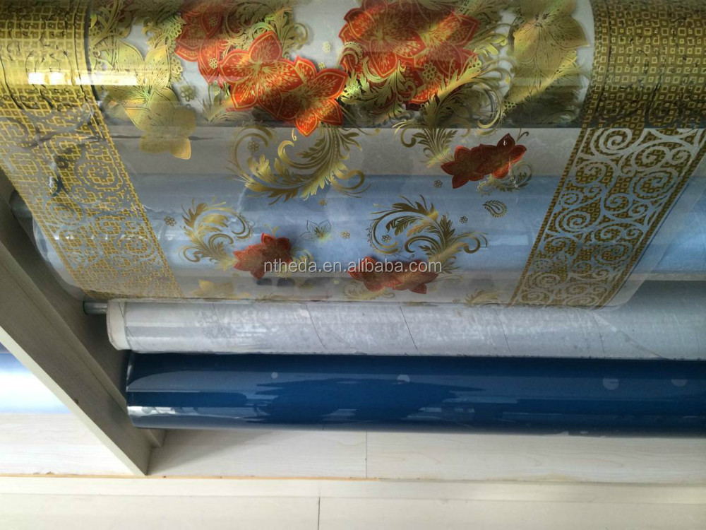 glitter pvc laminating film table cloth 0.30mm