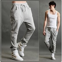 Wholesales Casual Mens Baggy Harem Pants Long With Big Pocket PW-AW-SMM-K01