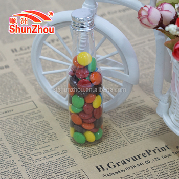 60g beer bottle multi color fastener shape big crispy chocolate beans sweets
