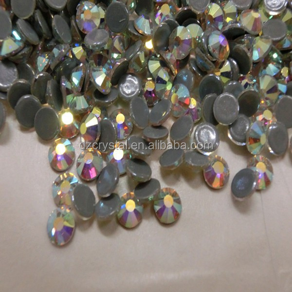 China factory wholesale decorative shiny leed free and multi size flat back cheap loose hot fix crystal ab rhinestone for dress