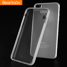 Ultra thin transparent clear phone case TPU silicone phone case for iphone7