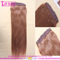Qingdao factory direct sale Brazilian virgin hair high quality human hair clip in extensions