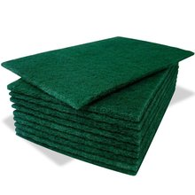 Green Plastic Table Cleaning Scouring Pad, Non Scratch Cleaning Scourer Scrub Cloth