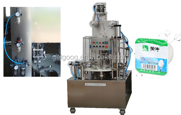 Best price yogurt cup filling sealing machine