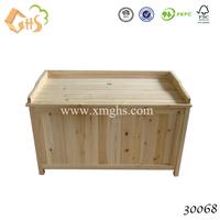 Outdoor wooden garden storage box