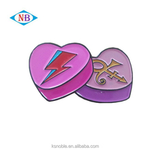 Promotion gifts soft enamel custom heart shape metal lapel pin