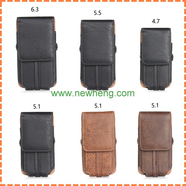 New Products Belt Clip Holster Leather Hanging waist pouch case for iPhone 6/6s with Photo frame