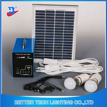 Mini Blue Shell 5W LED Light Solar Home Lighting Kit