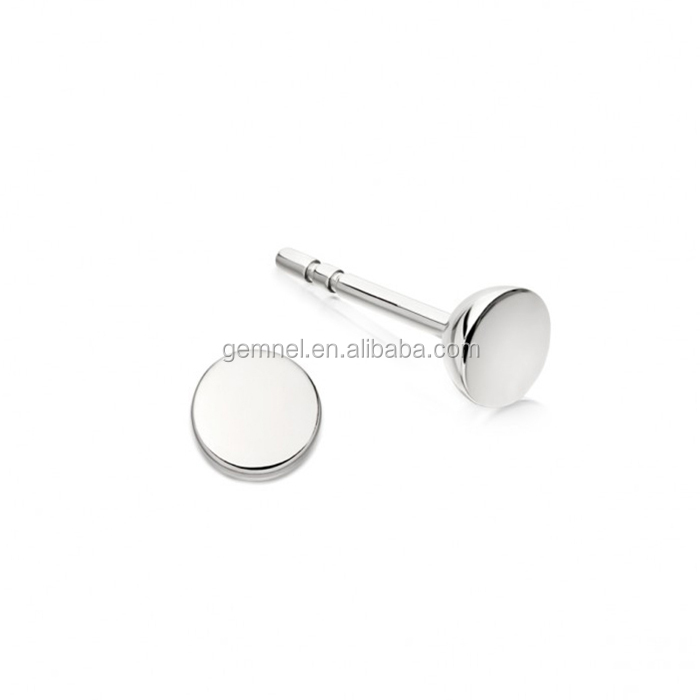 Gemnel jewelry bar sterling 925 womens white gold earrings