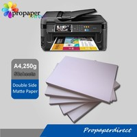 factory supply 250g cast coated double side matte inkjet photo paper