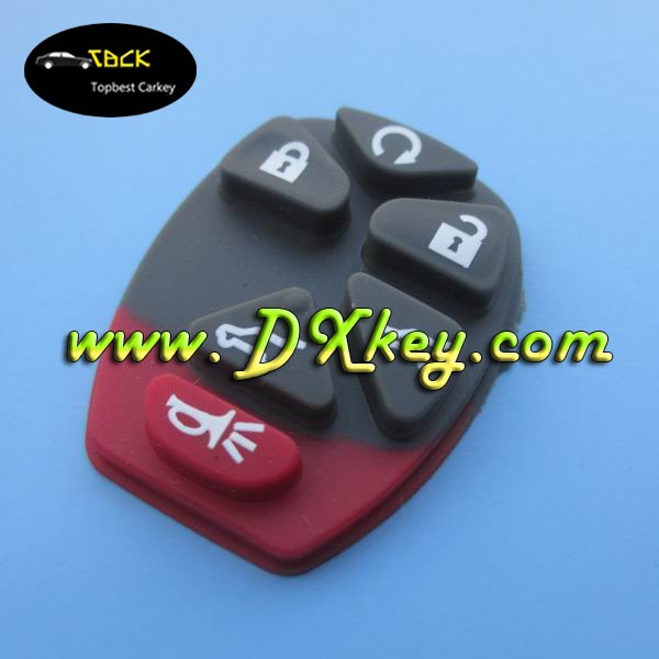 wholesale key shell for GM 5+1 silicon button pad silicone car key cover