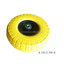 qingdao wantai all size pneumatic pu foam rubber wheels wheelbarrow wheels /wheel tire 4.00-8