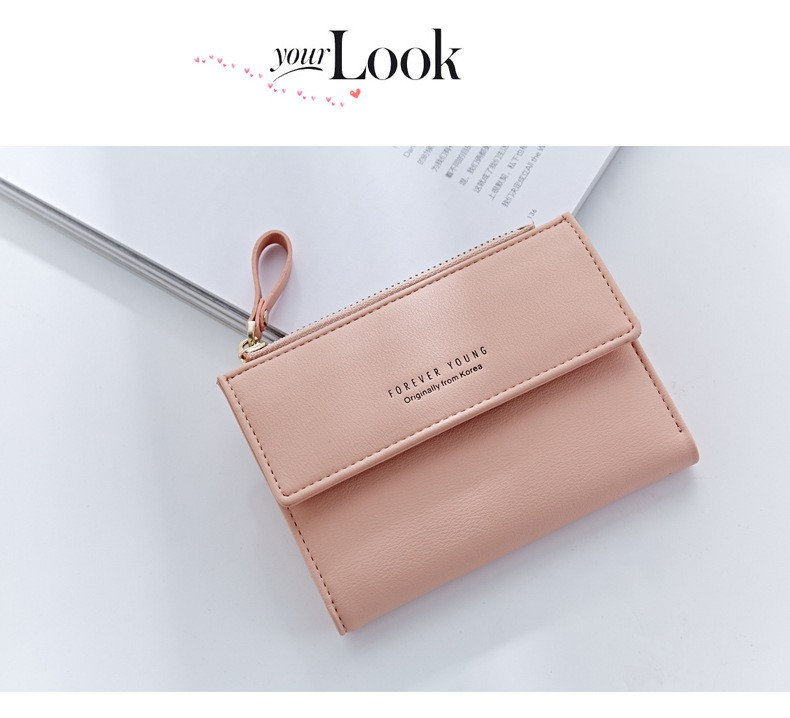 Korean style short wallet elegant ladies short wallet