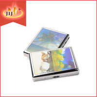 JL-006N Yiwu Jiju Cigarette Pack Tin Box, Bling Metal Cigarette Case