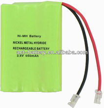 nimh hybrid battery AAA 3.6v 550mah ni-mh batteries pack