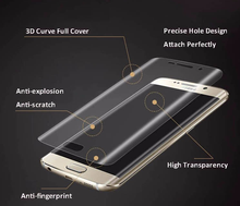 9H Hardness Anti Blue Light Mobile Full Cover 3D Curved 9H tempered glass for samsung galaxy s7 edge glass screen protector
