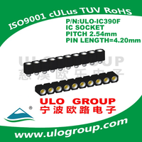 PCB Ic Socket pitch 2.54MM electric materials