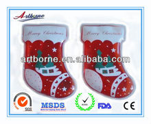 Artborne Gel heat pack & hand warmer pack in Santa Shape-Christmas new hot items for 2013(FDA/CE/RoHs)