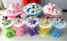 plush toy bouquet for birthday gift ,wedding gift or Mother Day