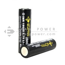 New Efan battery IMR 18650 2800mAh 40A 3.7V LiMn battery flat top high drain battery for power mods